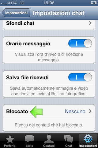 Bloccare Contatto Su Whatsapp da Iphone Step 3