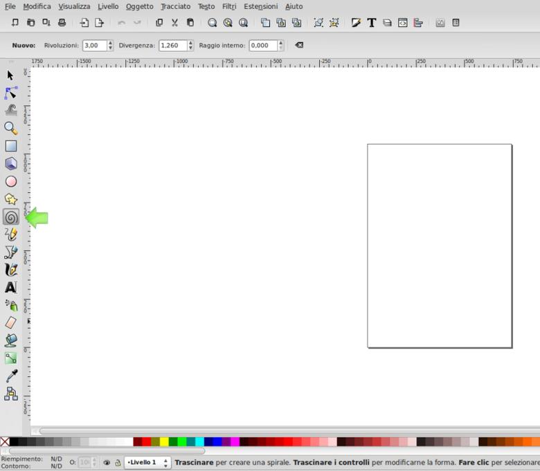 Come Disegnare una spirale con inkscape