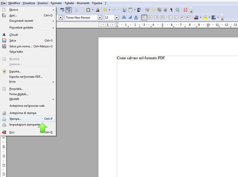 come salvare un file in pdf