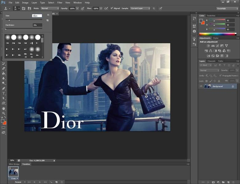 Come cancellare una scritta con Photoshop