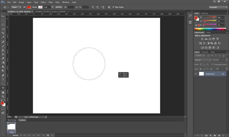 Come disegnare un cerchio con Photoshop