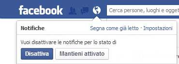 Come eliminare le notifiche su Facebook
