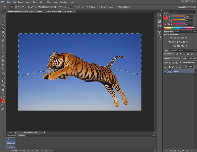 Come usare la bacchetta magica in Photoshop