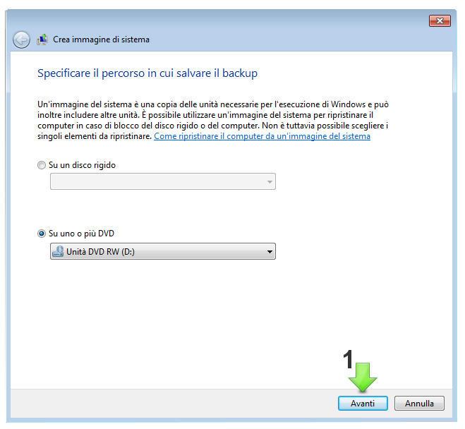 Creare un File di Immagine del sistema operativo Windows 7