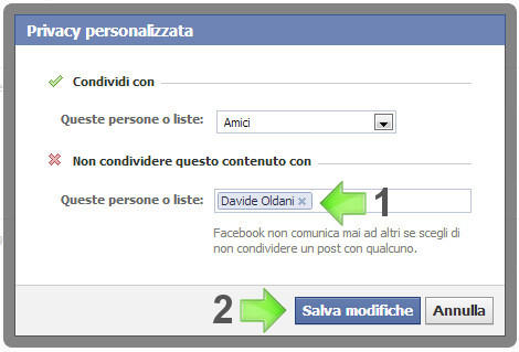 Nascondere Foto Taggati Facebook Step 5
